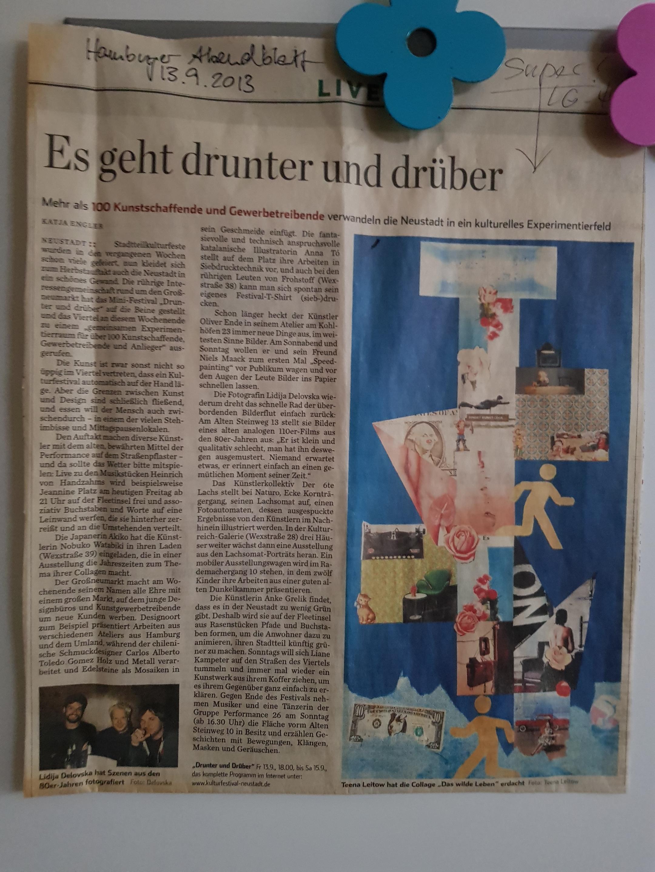 Teena Leitow, Hamburger Abendblatt, Ausstellung, Hamburg, Die Weingaleristen
