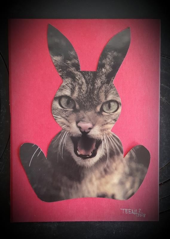 Teena Leitow, wild is the rabbit, collage, Kunst, mixedmediaart, contemporaryart