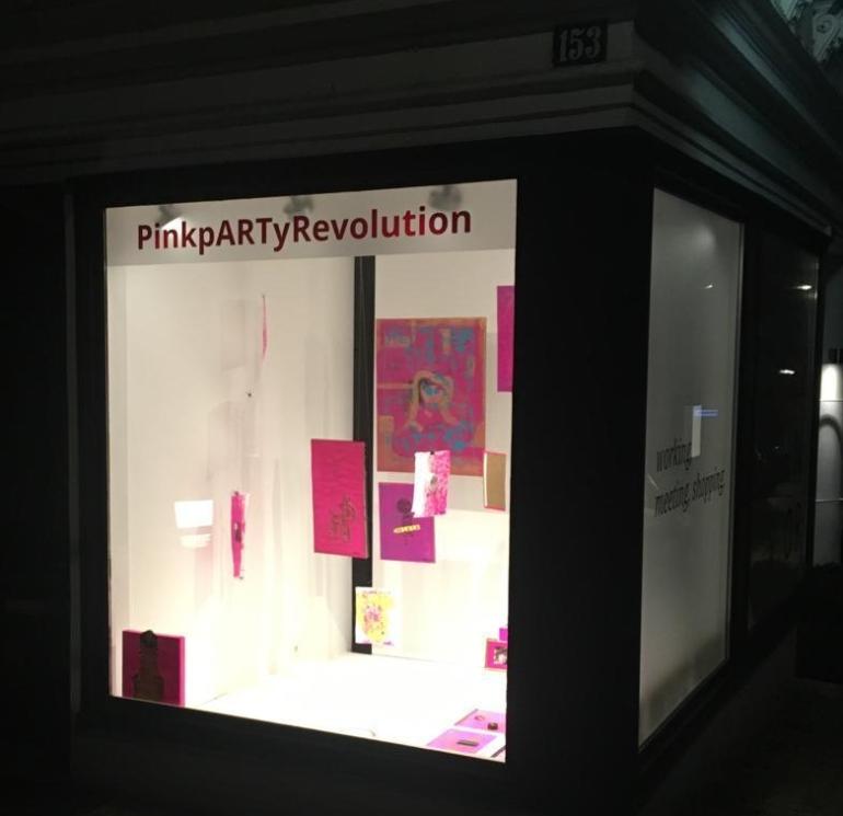 PinkpARTyRevolution, Teena Leitow, Kunst, Hamburg, Ausstellung, Galerie, PopUpGallery, 17vor, Blankenese, Ausstellung