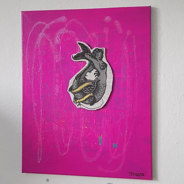 pink party revolution, Teena Leitow, Sonderkunstaktion, Mermaid, contemporary art, Kunst