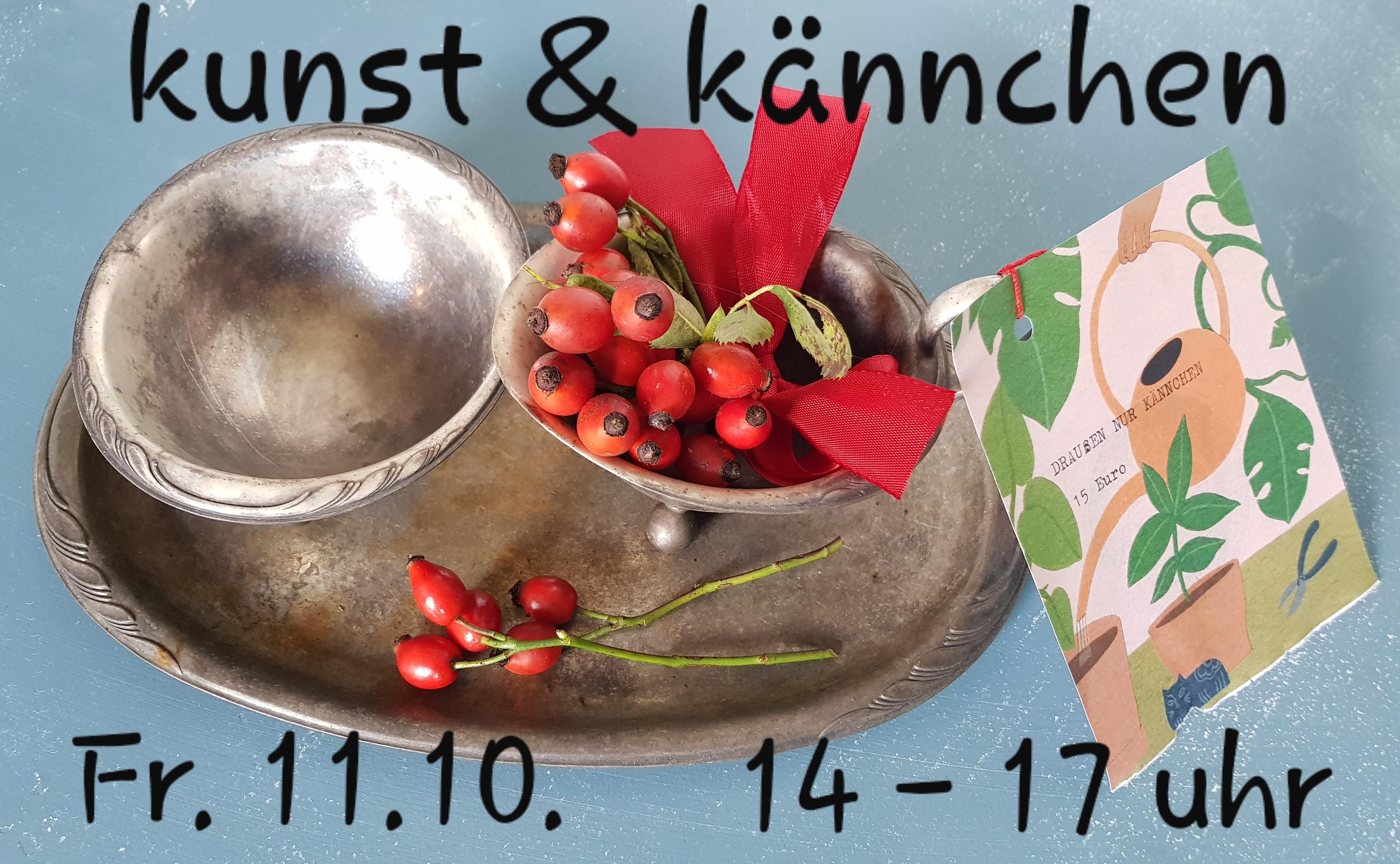 Kunst und Kännchen, Teena Leitow, Offenes Atelier, Kunst, vintage, Flohmarkt, Kännchen nur draußen, Nordheide, Hamburg, Trelde